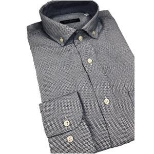その他 おすすめ イタリア製ファクトリーシャツ from milano ブルー×ホワイト Lサイズ ds-2256364