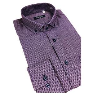 その他 おすすめ イタリア製ファクトリーシャツ from milano パープル Mサイズ ds-2256365