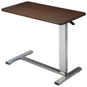 その他 ガス圧昇降式テーブル(リフティングテーブル) キャスター付き 幅80cm×奥行40cm ダークブラウン ds-1455231