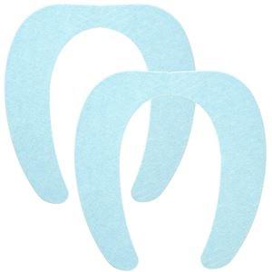 その他 (まとめ) 便座シート/吸着べんざシート 【ブルー 2組入】 洗える トイレ用品 『レック ぴたQ』 【72個セット】 ds-2258756