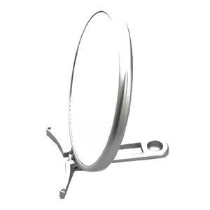 その他 (まとめ)手鏡 折立 ハンドミラー拡大鏡付 シルバー CH-8740 【72個セット】 ds-2259824