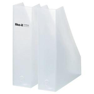 その他 (まとめ)ライフモデュール A4ファイルボックス2個組 W ホワイト LM-19 【20個セット】 ds-2259873