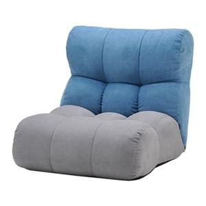 その他 ソファー座椅子/フロアチェア 【ブルー/グレー】 北欧風 ツートーンカラー リクライニング 『ピグレットJrノルディック1P』 ds-2251930
