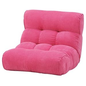 その他 ソファー座椅子/フロアチェア 【ピンク】 ワイドタイプ 41段階リクライニング 『ピグレット2nd-コーデュロイ』 ds-2251948