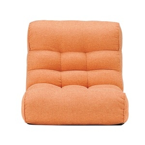 その他 ソファー座椅子/フロアチェア 【オレンジ】 41段階リクライニング 『ピグレットビッグ2nd-ベーシック』 ds-2251953