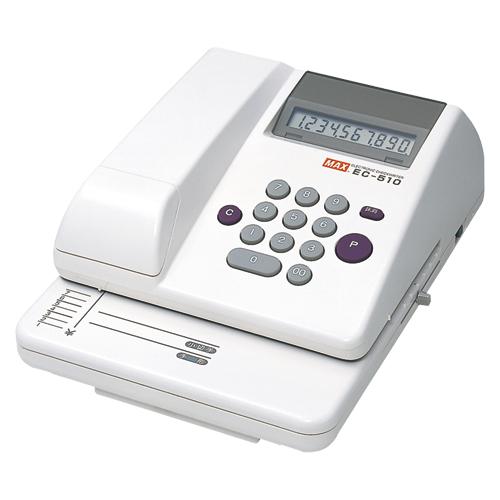 マックス 電子チェックライタ EC-510 (1台) 4902870013653