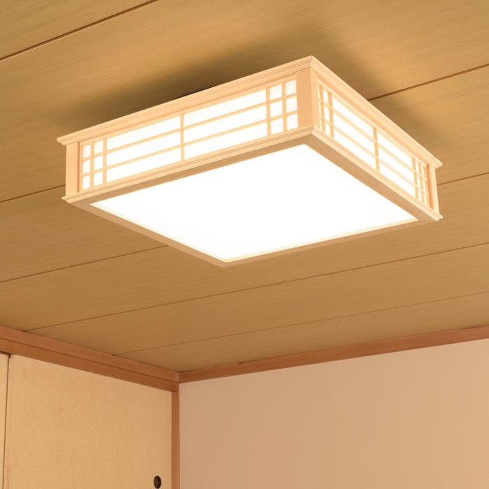 オーム電機 「3個セット」天然木使用LED和風シーリングライト12畳用電球色 LE-W50LBK-K-3