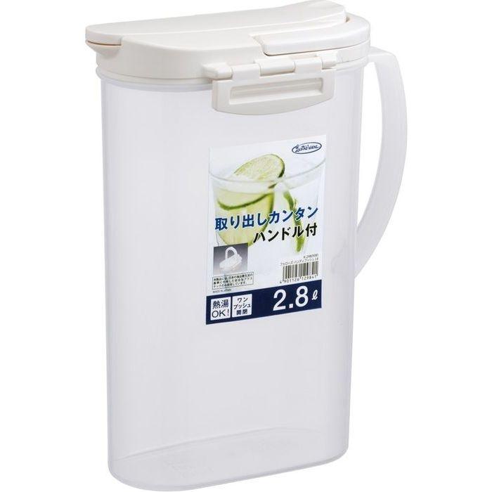岩崎工業 麦茶ポット 耐熱 2.8L フェローズ・ハンディプッシュ ピッチャー K-298(冷水筒 水差し) 24個セット【沖縄・離島配達不可】 4901126129841-24
