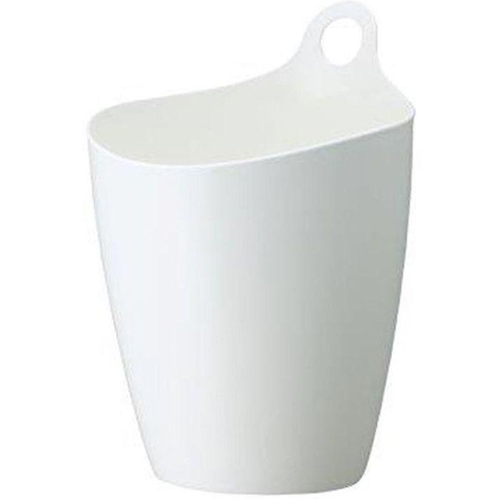 イノマタ化学 収納 かご プラスチック 5L ライズ ホワイト ( ゴミ箱 くずかご ) 36個セット【沖縄・離島配達不可】 4905596341567-36