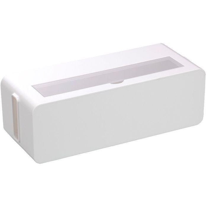 イノマタ化学 コンセント収納ボックス テーブルタップボックス L ホワイト (ケーブル コード 収納ケース) 12個セット【沖縄・離島配達不可】 4905596483267-12