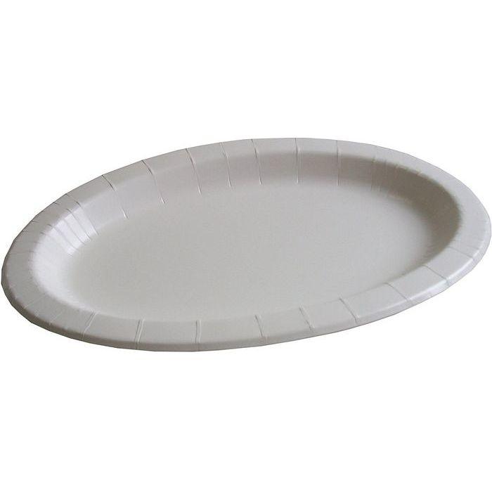 ペーパーウェア パーティープレート ホワイト 20枚入り PYR-36 (紙皿 大型プレート) 20個セット【沖縄・離島配達不可】 4952893000796-20