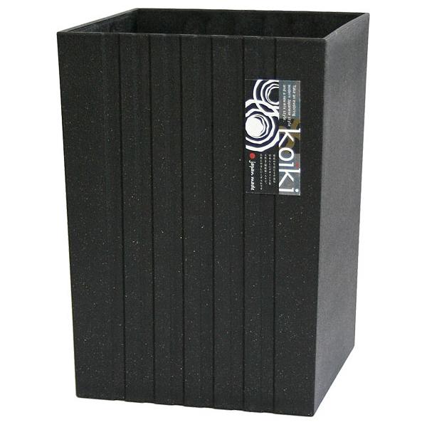 八幡化成 ゴミ箱 4.5L コイキ モダン 角型(小) ブラック ( ダストボックス くずかご ) 24個セット【沖縄・離島配達不可】 4966511223696-24