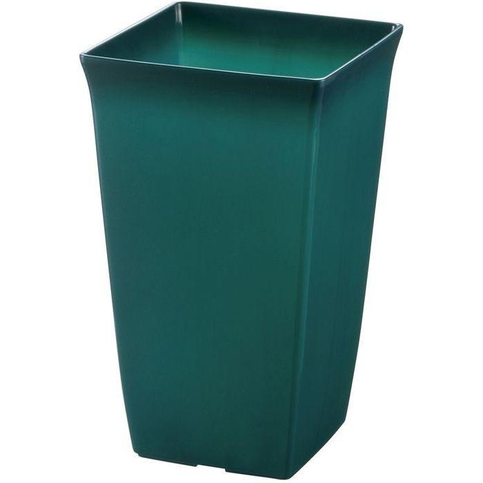 リッチェル 観葉植物鉢 角6号 土容量約2.6L クリアグリーン 約14.2×14.2×H23cm 60個セット【沖縄・離島配達不可】 4973655720639-60