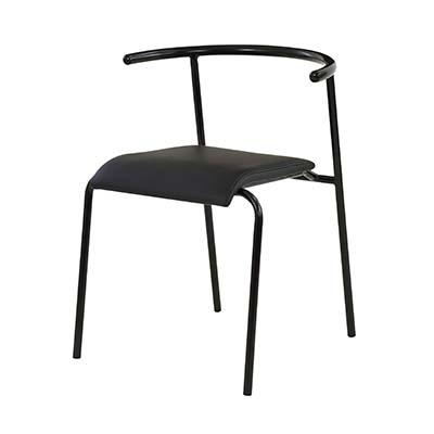 東谷(あづまや) 【お買い得! 2脚セット】エーデル チェア 飲食店用椅子 ミーティングチェア (ブラック) A2-101BK