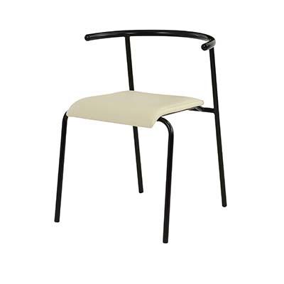 東谷(あづまや) 【お買い得! 2脚セット】エーデル チェア 飲食店用椅子 ミーティングチェア (アイボリー) A2-101IV