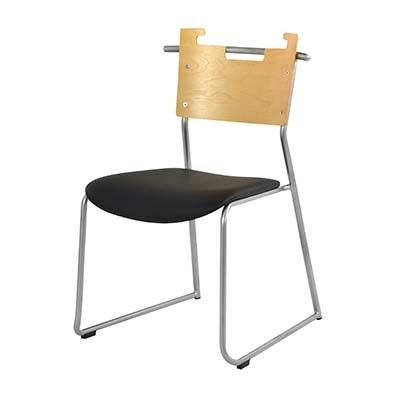 東谷(あづまや) 【お買い得! 2脚セット】マルカート チェア 飲食店用椅子 ミーティングチェア ループ脚チェア (ブラック) A2-102BK