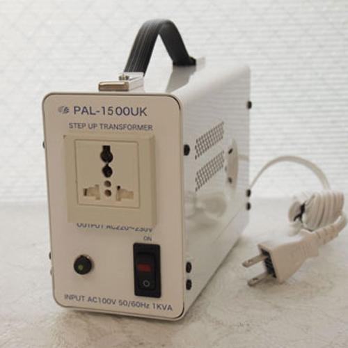 スワロー電機 アップトランス 100V→240V 1500W PAL-1500UK【納期目安:2週間】