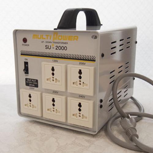 スワロー電機 100~240V対応 マルチ変圧器 2000W SU-2000【納期目安:2週間】