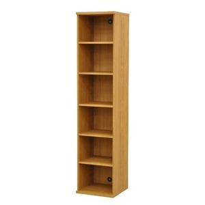 その他 カラーボックス(収納棚/カスタマイズ家具) 6段 幅40×高さ177.9cm セレクト1840BR ブラウン【代引不可】 ds-2262351