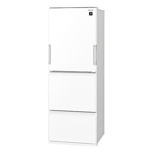 シャープ プラズマクラスター 3ドア冷蔵庫 (350L・どっちもドア) ピュアホワイト SJ-GW35F-W【納期目安:約10営業日】
