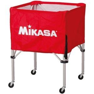 その他 MIKASA(ミカサ)器具 ボールカゴ 箱型・中(フレーム・幕体・キャリーケース3点セット) レッド 【BCSPS】 ds-2262555