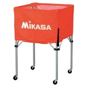 その他 MIKASA(ミカサ)器具 ボールカゴ 箱型・中(フレーム・幕体・キャリーケース3点セット) オレンジ 【BCSPS】 ds-2262562