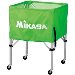 その他 MIKASA(ミカサ)器具 ボールカゴ 箱型・中(フレーム・幕体・キャリーケース3点セット) ライトグリーン 【BCSPS】 ds-2262563