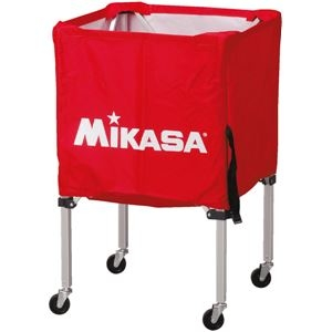 その他 MIKASA(ミカサ)器具 ボールカゴ 箱型・小(フレーム・幕体・キャリーケース3点セット) レッド 【BCSPSS】 ds-2262566