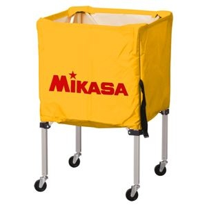 その他 MIKASA(ミカサ)器具 ボールカゴ 箱型・小(フレーム・幕体・キャリーケース3点セット) イエロー 【BCSPSS】 ds-2262568