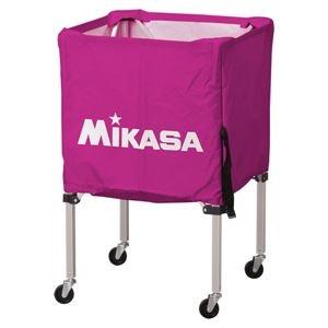 その他 MIKASA(ミカサ)器具 ボールカゴ 箱型・小(フレーム・幕体・キャリーケース3点セット) バイオレット 【BCSPSS】 ds-2262570