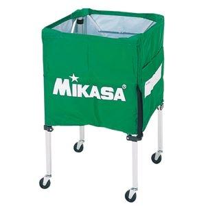その他 MIKASA(ミカサ)器具 ボールカゴ 箱型・小(フレーム・幕体・キャリーケース3点セット) ライトグリーン 【BCSPSS】 ds-2262574