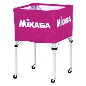 その他 MIKASA(ミカサ)器具 ボールカゴ 箱型・大(フレーム・幕体・キャリーケース3点セット) バイオレット 【BCSPH】 ds-2262580