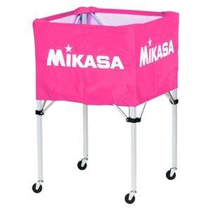 その他 MIKASA(ミカサ)器具 ボールカゴ 箱型・大(フレーム・幕体・キャリーケース3点セット) ピンク 【BCSPH】 ds-2262582