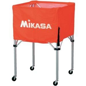 その他 MIKASA(ミカサ)器具 ボールカゴ 箱型・大(フレーム・幕体・キャリーケース3点セット) オレンジ 【BCSPH】 ds-2262583