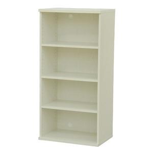その他 カラーボックス(収納棚/カスタマイズ家具) 4段 幅58.9×高さ120.3cm セレクト1260WH ホワイト【代引不可】 ds-2263884