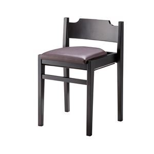 その他 ダイニングチェア/食卓椅子 【2脚セット ブラウン】 幅41×奥行39×高さ62cm 木製 合皮張地 『リエートチェア』 〔リビング〕 ds-2267083