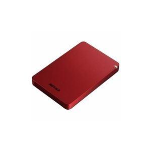 その他 BUFFALO ポータブルHDD レッド 1TB HD-PGF1.0U3-RDA ds-2268323