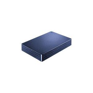 その他 IOデータ 外付けHDD カクうす Lite ミレニアム群青 ポータブル型 2TB HDPH-UT2DNVR ds-2268487