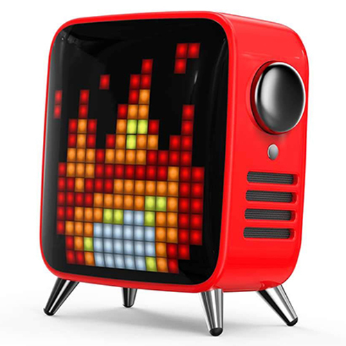 Divoom レトロテレビ型本格派Bluetoothスピーカー Tivoo レッド TIVOO-MAX_RED
