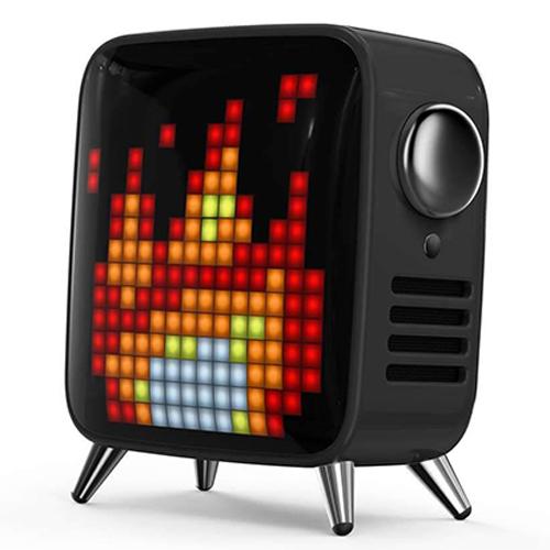 Divoom レトロテレビ型本格派Bluetoothスピーカー Tivoo ブラック TIVOO-MAX_BLACK