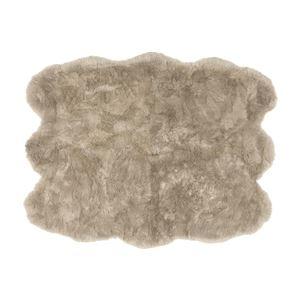 その他 ニュージーランド産 天然ムートンの6匹 ラグマット 【約140×180cm ブラウン】 表面:羊毛皮100% 吸水性 放湿性 『M-511-F』【代引不可】 ds-2271260