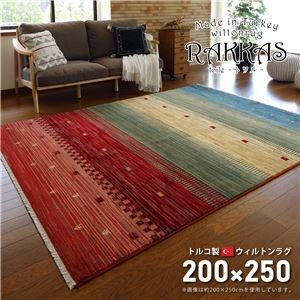 その他 トルコ製 ラグマット/絨毯 【約200×250cm】 長方形 折りたたみ可 『RAKKAS トワル』 〔リビング ダイニング〕【代引不可】 ds-2271326