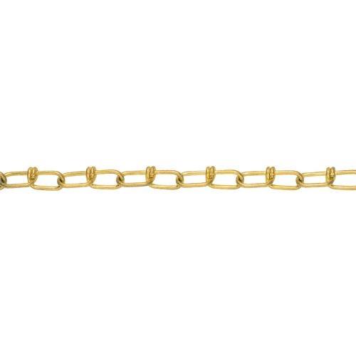 トラスコ中山 水本 黄銅ビクターチェーン 1.6-VBR 長さ・リンク数指定カット 29.1~30m tr-1599022
