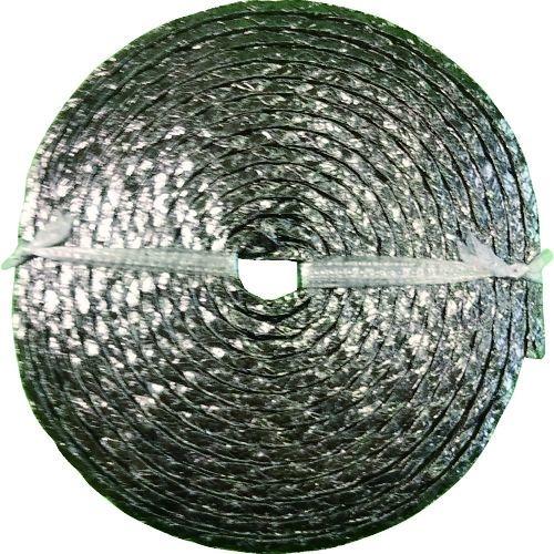 トラスコ中山 ダイコー グランドパッキン D4104 膨張黒鉛編組パッキン(インコネル合金線入り) 幅4.8mm tr-1494706