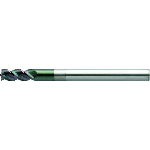 トラスコ中山 ユニオンツール 3枚刃DLCコートロングネックスクエア 外径9×有効長27×刃長18×全長90 tr-1493758