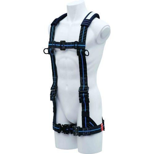 トラスコ中山 KH ハーネスY型ワンタッチ式黒/青ラインL寸 tr-1675608