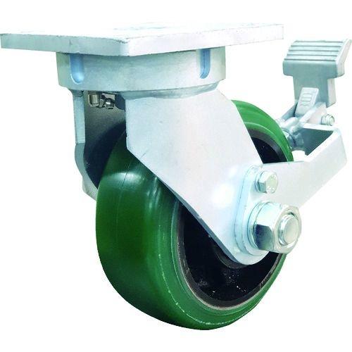 トラスコ中山 SAMSONG 鍛造型 重荷重用 耐熱ウレタン車 自在ストッパー付(固定切り替え機能PSL取り付け可能) 152mm tr-1610456