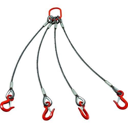 トラスコ中山 TRUSCO 4本吊りアルミロックスリング フック付き 6mmX1m tr-1606398