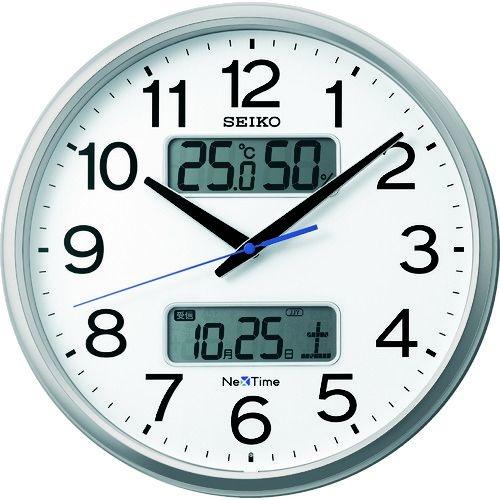 """トラスコ中山 SEIKO 電波掛時計 """"セイコーネクスタイム ZS250S"""" (ハイブリッド電波時計) tr-1587624"""