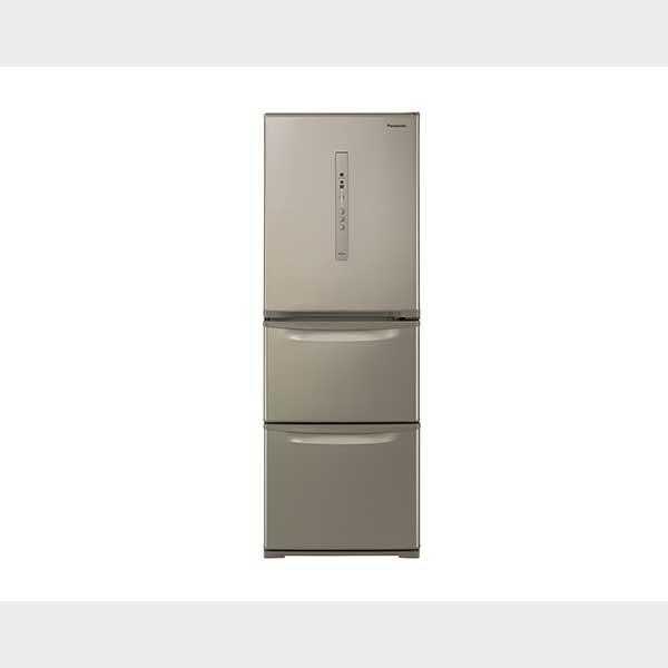 パナソニック 335L3ドア冷蔵庫 シルキーゴールド 右開きタイプ NR-C341C-N